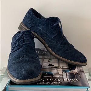 Oxfords by Bruno Marc NY, Navy Blue Suede sz 9